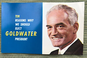 Vintage Barry Goldwater brochure 1964 not pin pinback
