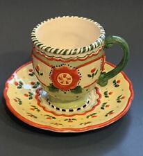 Mary Engelbreit Michel & Co Christmas 2001 Maryment Tea Cup and Saucer Teacup
