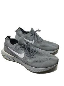 Nike 45 Epic React Flyknit Wolf Grey Running Sneaker Size 15