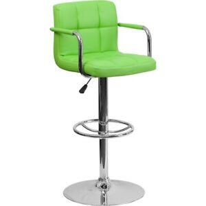 Flash Furniture Green Contemporary Barstool, Green - CH-102029-GRN-GG