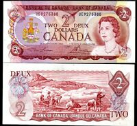 CANADA 2 DOLLARS 1974 P 86 a 86 LAWSON BOUEY AUNC ABOUT UNC