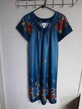CW CLASSICS WOMENS SIZE  SMALL PULL ON  NIGHTGOWN FLORAL SLEEPWEAR 1 POCKET