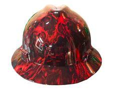 Hydrographic Warrior Red MSA V-Guard Full Brim Hard Hat