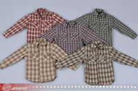 1:6 Male/Female Classic Casual Trend Plaid Shirt Clothes Fit 12'' Action Figure