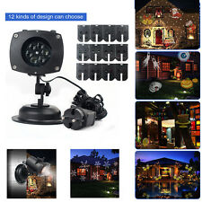 Outdoor Laser Projector LED Star 12 Slides Light Party Home Decor Lamp