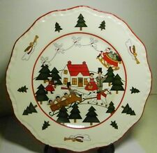 "Mason's Christmas Village Salad Plate, 8"" -MADE IN ENGLAND"