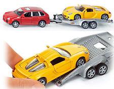 2544 SIKU Porsche Cayenne & Trailer & Porsche GT Sports Car 1:55 Diecast Replica