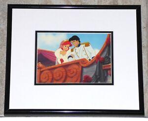 WALT DISNEY THE LITTLE MERMAID ARIEL ERIC ROYAL WEDDING FRAMED CEL PROMO CARD