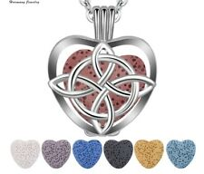 Silver Witch's Knot Aromatherapy Necklace Locket Diffuser Wiccan Protection