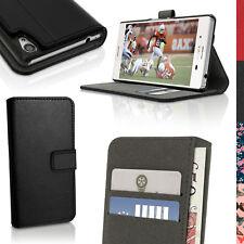 PU Pelle Custodia Portafoglio per Sony Xperia M4 Aqua E2303 Case Flip Cover