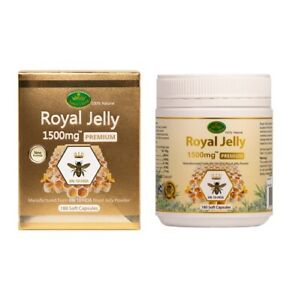 Nature's King-Royal Jelly 1500mg 6% 10-HDA 180 Capsules