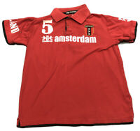 Men's Total Dutch Amsterdam Label Red Soccer Jersey Shirt Sz L Large Futbol EUC