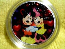 """2019 Silver Eagle Colorized """"Mickey & Minnie Mouse""""     Pop 20"""