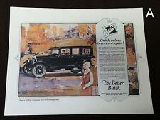 NOS Vintage Better Buick Motor Company Advertisement Master 6 7 Passenger Sedan