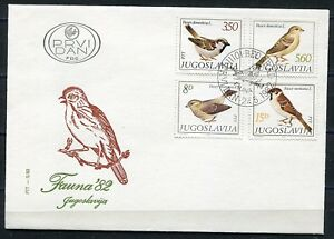 1926 - Yugoslavia 1982 - Fauna – Birds - FDC