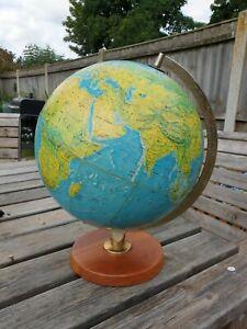 "George Philip & Son Ltd, London 12"" Terrestrial Globe on Stand 1971"