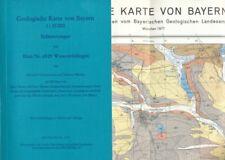 Geologische Karte von Bayern 1:25.000 Blatt Nr. 6929 WASSERTRÜDINGEN + Erl.