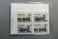 *Kengo* Canada stamps #999 #1000 set of 4 inscription corner blocks SEALED @200