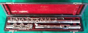 SML MARIGAUX (LOUIS LOT SUCCESSOR) FRENCH FLUTE SOLDERED HOLES POINTED ARMS