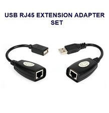2PCS 150FT USB RJ45 LAN EXTENSION ETHERNET ADAPTER EXTENDER CABLE REPEATER
