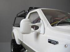 Pair White Rubber Flexible Side Mirror Tamiya RC 1/10 Juggernaut 1 2 Ford F350
