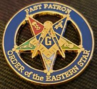 Masonic Large OES Order of the Eastern STAR Past Patron Lapel Pin