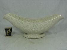 """50´s Design Argento Cardo ceramica """"Fiori nave/Flower Bowl"""" Crackle Glaze"""