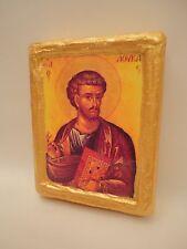 Icon Saint Luke Apostle Agios Loukas Rare Greek Eastern Orthodox Icon on Wood
