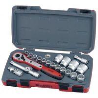 Teng Tools T1221 1/2 Drive Socket Ratchet Tool Set 21 Pieces + Case