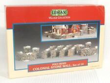 Lemax Village Stacked Stone Fence Landscape Accessory, 10 Pcs, 1 Box, GC