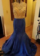 JOVANI SEQUIN ROYAL BLUE PROM DRESS SIZE 6 NEW