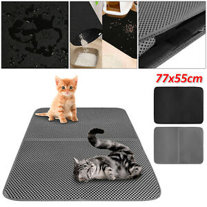 Double-Layer Cat Litter Mat Trapper Foldable Pad Pet Rug EVA Foam Rubber Large