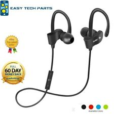 Black Bluetooth Earphone Headset Headphones Wireless Sweatproof Sport Gym Mic UK