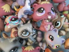 LITTLEST PET SHOP Lot 3 Random Jungle Animals Ferret Raccoon Beaver Authentic