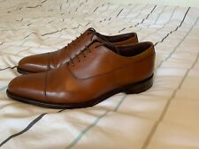 LOAKE 1880 Laxford Brown Oxford Toe Cap Shoes Size UK 8.5