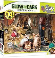 HIDDEN IMAGES GLOW IN THE DARK PUZZLE WATCHFUL EYE STEVE READ 550 PCS #31434