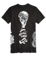 New World Mens Reflection Graphic-Print T-Shirt (Black Multi,Small)