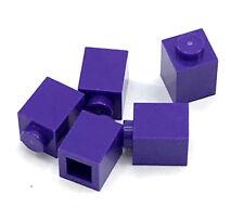 Lego 5 New Dark Purple Bricks 1 x 1 Dot Building Blocks Pieces