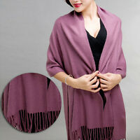 Fashion Warm Women Cashmere Silk Solid Long Pashmina Shawl Wrap Scarf Range