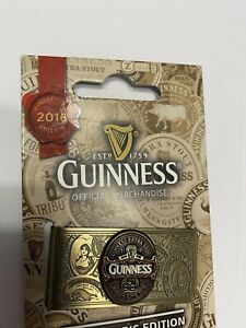 Money Clip Guinness Ireland NEW , Dimensions: 2'L x 1'W Rare Red Ink 2016