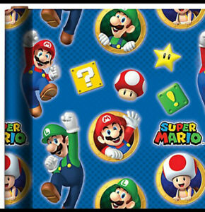 SUPER MARIO BROTHERS LUIGI WRAPPING PAPER ROLL GIFT WRAP ANY OCCASION 20 SQ. FT.