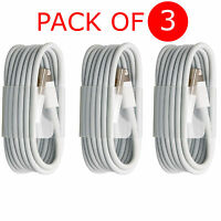 3X 3M USB Sync & Charger Lightning Data Lead Cable For iPhone 8 8x 5S 6S 7 Plus