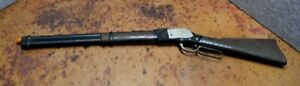 Vintage Toy Rifle Mattel Shootin' Shell Winchester Plastic For Parts Or Restore
