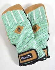2016 NWT MENS GRENADE LEATHER MITTEN $110 L stripes polyester shell leather palm