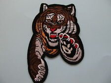 Tiger Jumping Iron on Applique Patch