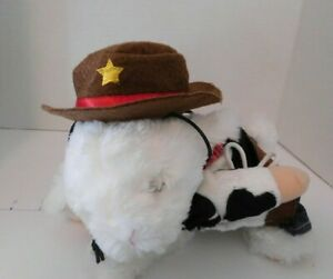2 pc Cowboy Stand-up Hat Set Pet Dog Cat Costume Size XS