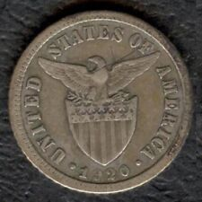 1920 US Administration Philippines 10 CENTAVOS Silver Coin - Stock #1