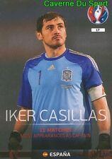 017 IKER CASILLAS ESPANA SPAIN TOP QUALIFIERS CARD ADRENALYN EURO 2016 PANINI