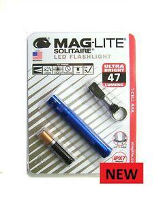 MAGLITE Solitaire LED Bleu Clé Bague Taille Torche Neuf Gratuit Royaume-Uni