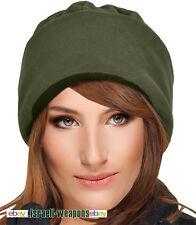 IDF Fleece Watch Cap Hat Israeli Army Cold Weather Winter Gear Clothes - Green
